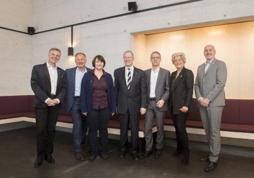 Der GFZKO-Vorstand (v.l.): Willi Zimmermann, Peter Marschel, Gisela Stäheli, Urs Fellmann, Dr. Frank Arnold, Ruth Züblin und Marcel R. Gamma
