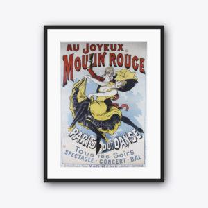 Vintage Poster Au Joyeux Moulin Rouge