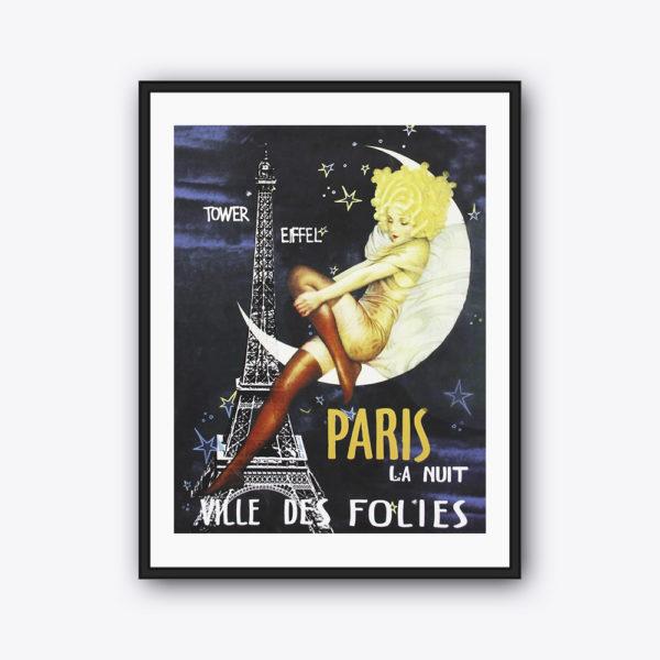 Vintage-Poster Paris La Nuit